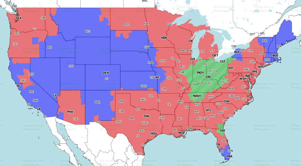 NFL on CBS Week 5 Tv Map CBS Late Games 2020 from 506 Sports