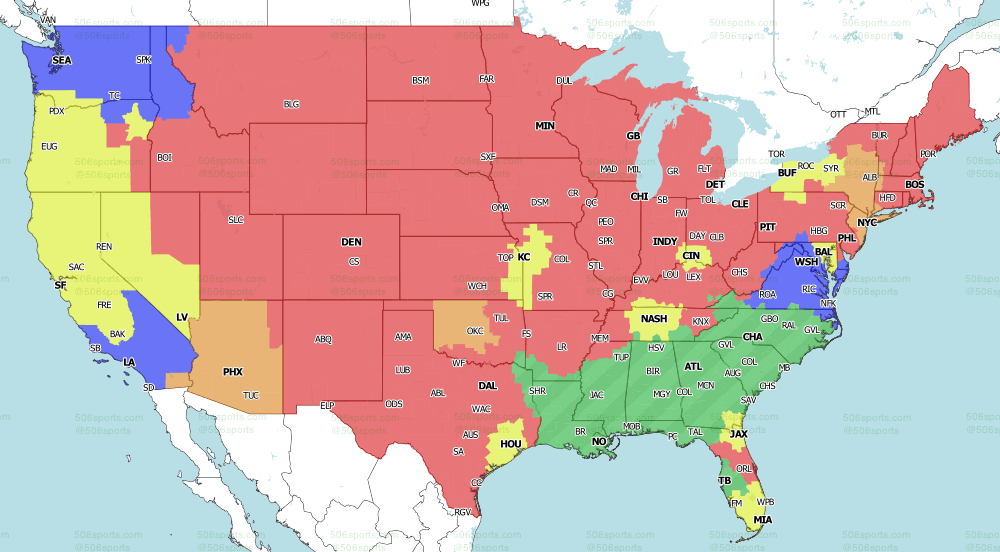 NFL on Fox Week 5 Tv Map Fox Single Games 2020 from 506 Sports