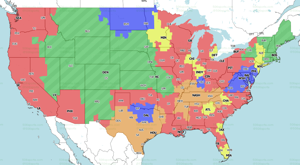 NFL on CBS Week 6 Single Games 2020 from 506 Sports
