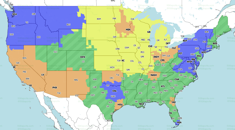 NFL  on Fox Single games for week 13 of the 2020 NFL Season by 506 Sports